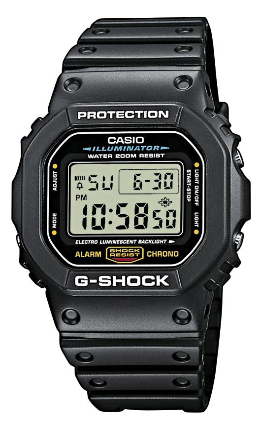 casio Casio g-shock - dw-5600e-1ver på brodersen + kobborg