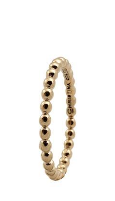 CHRISTINA Forgyldt Sølvring Circles - 0.3B Størrelse 51