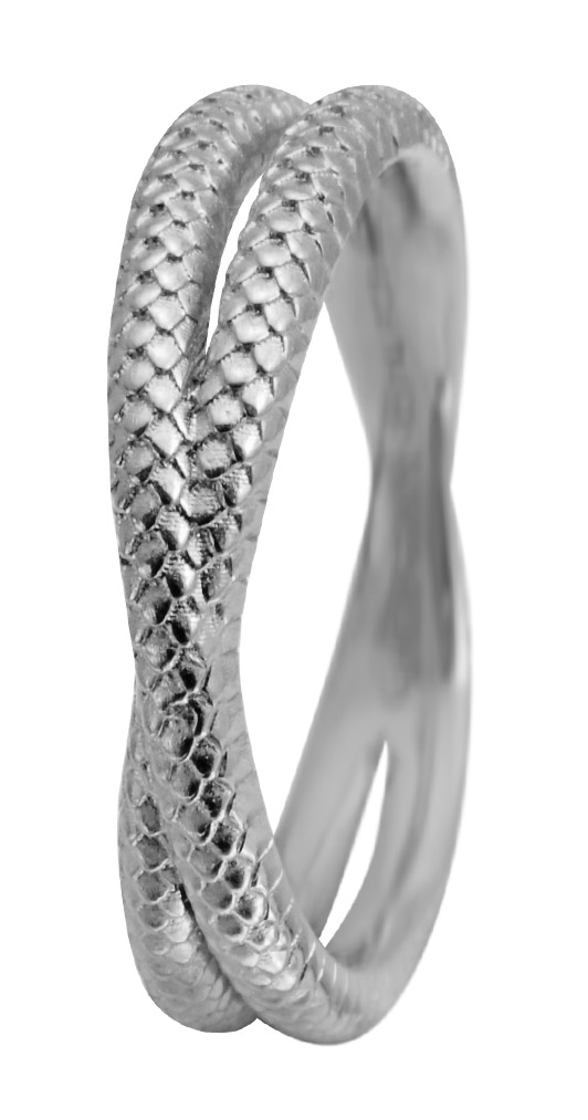 christina sølvring twin snake - 1.11a størrelse 55 fra christina watches