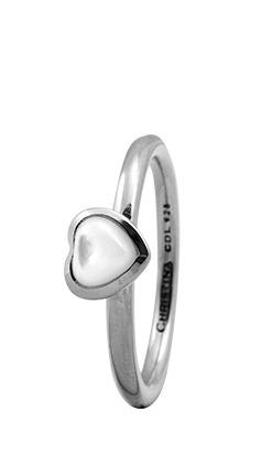 christina watches Christina sølvring heart - 1.3a størrelse 51 fra brodersen + kobborg