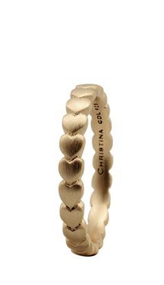 christina forgyldt sølvring hearts - 1.4b størrelse 49 fra christina watches