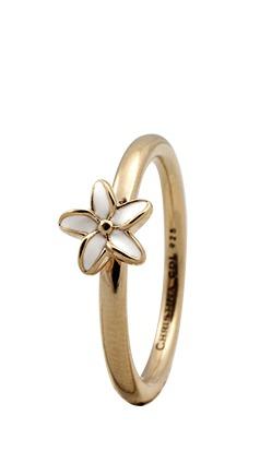 Christina forgyldt sølvring flower - 1.8b størrelse 53 fra christina watches på brodersen + kobborg