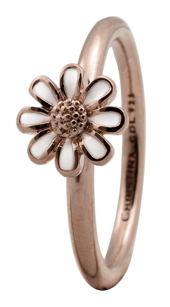 CHRISTINA Rose sølvring Marguerite  - 1.9C Størrelse 57