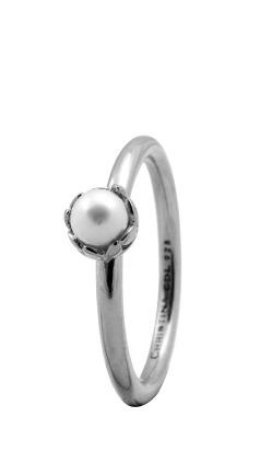 Christina sølvring pearl flower - 2.2a størrelse 55 fra christina watches fra brodersen + kobborg