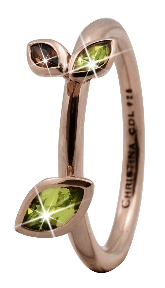 christina watches – Christina rose sølvring marquise leafs - 2.3c størrelse 57 på brodersen + kobborg