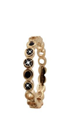 christina watches – Christina forgyldt sølvring black bubbles - 2.9b størrelse 55 fra brodersen + kobborg