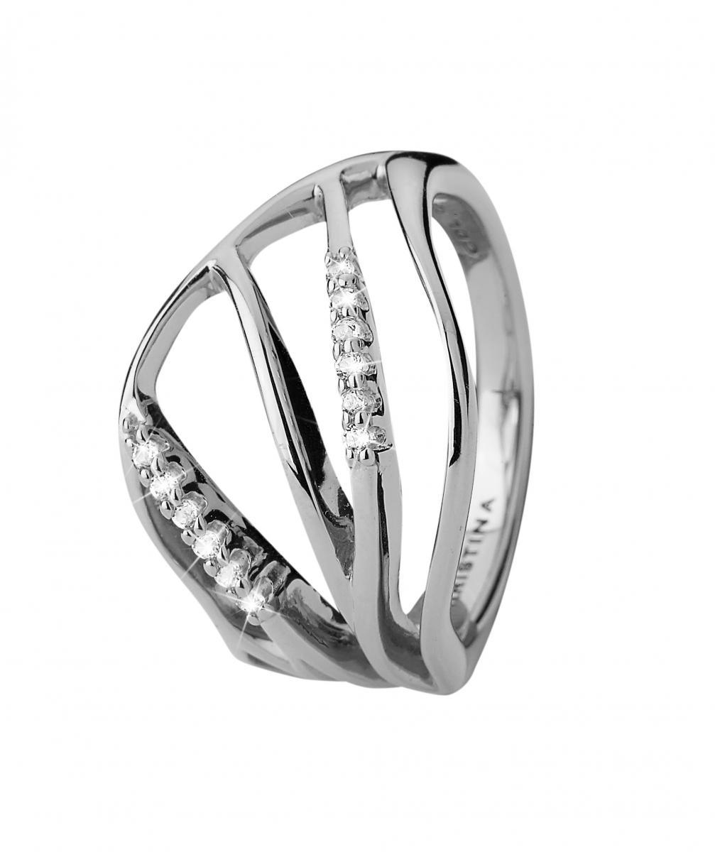 Christina Energy Sølv Ring - 3.17A Størrelse 55