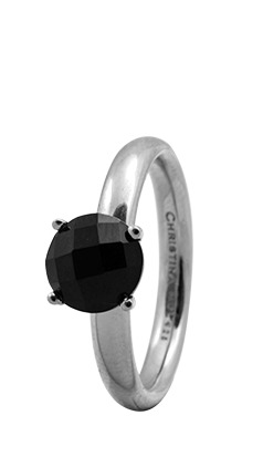 Christina sølvring black onyx - 3.1a xs/s fra christina watches fra brodersen + kobborg