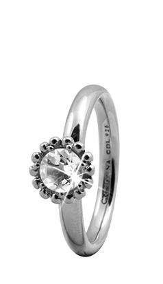 Christina sølvring crystal flower - 3.5a størrelse 49 fra christina watches fra brodersen + kobborg