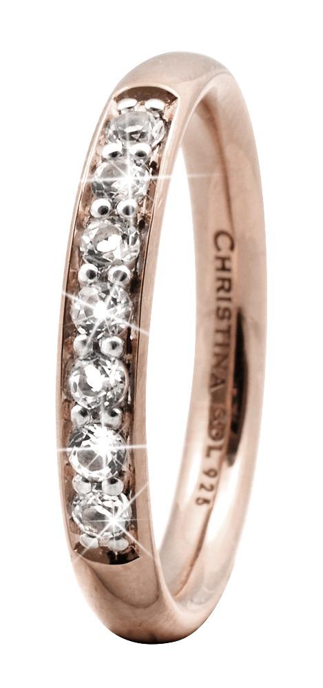 CHRISTINA Rose Sølvring Topaz Queen - 3.7C Størrelse 51