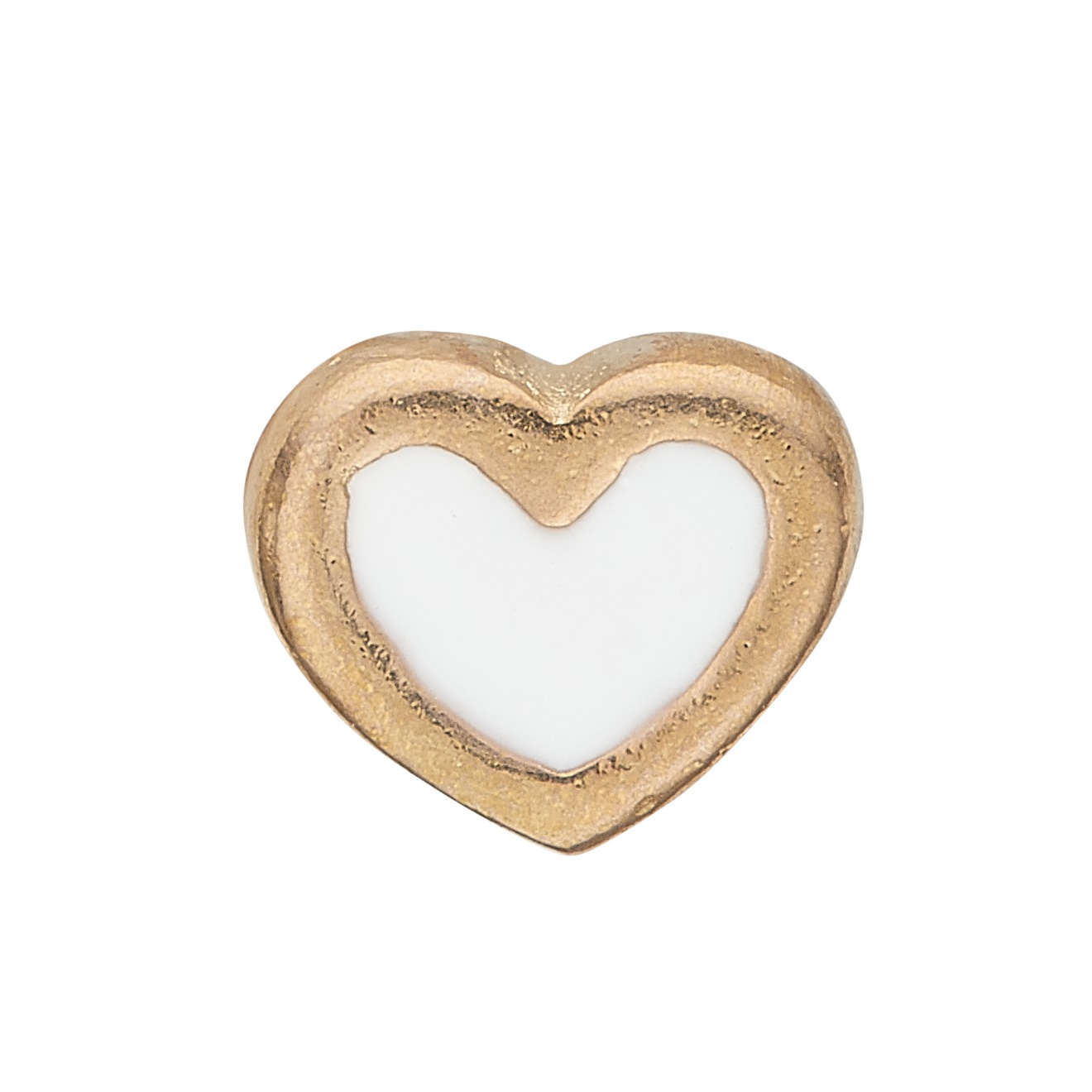 Image of   CHRISTINA Collect White Enamel Heart - 603-G3