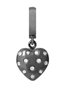 Image of   CHRISTINA Black Million Hearts drop - 610-B05WHITE