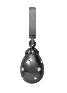 Image of   CHRISTINA Black Sapphire Star Drop - 610-B06WHITE