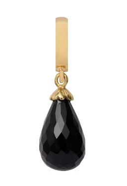 Image of   CHRISTINA Black Onyx Drop - 610-G01BLACK