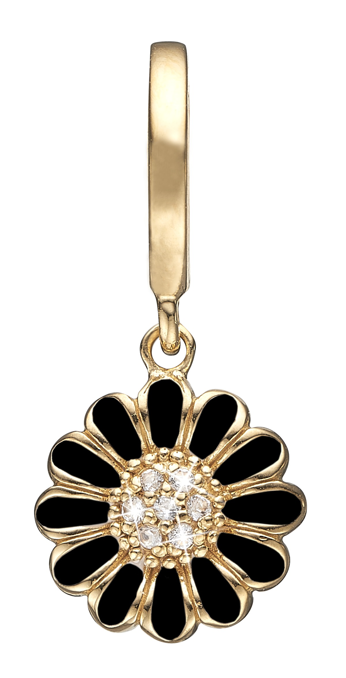 Image of   CHRISTINA Black marguerite hanger - 610-G68BLACK