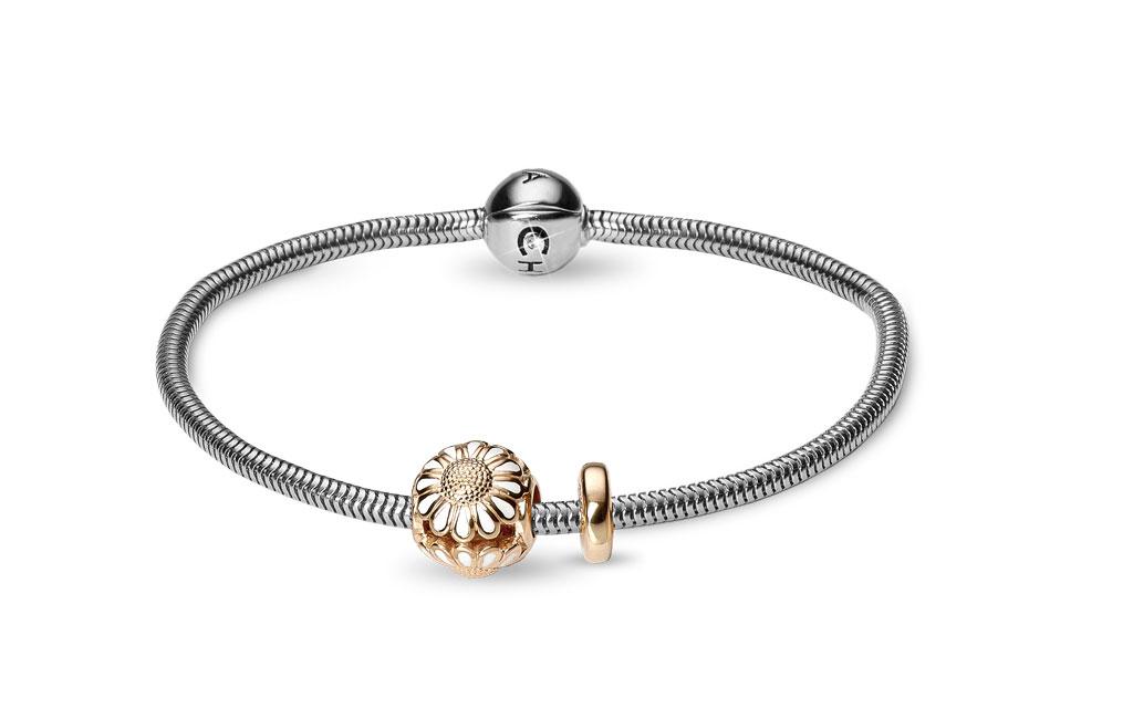 Image of   CHRISTINA Beads Bracelet kampagne - 615-G-MARGUERIT 16 centimeter