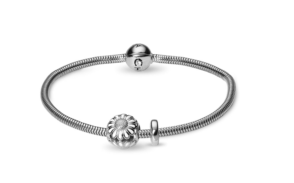 Christina beads bracelet kampagne - 615-s-marguerit 21 centimeter fra christina watches fra brodersen + kobborg
