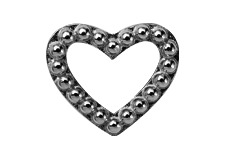 Image of   CHRISTINA Black Heart Dots - 630-B04