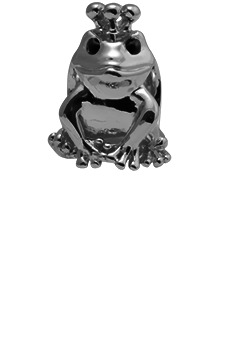 Image of   CHRISTINA Black Topaz Frog - 630-B36