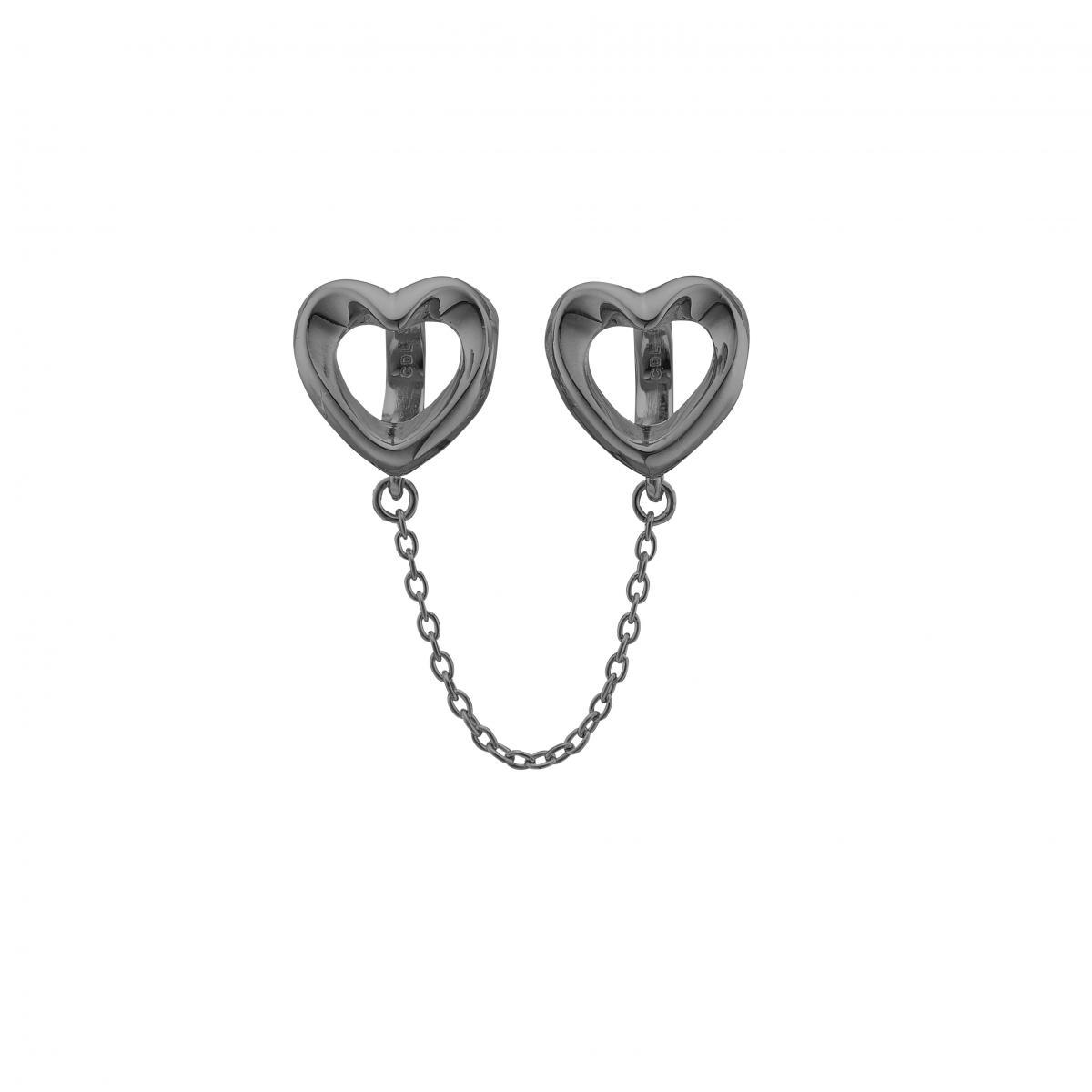 Christina safety hearts charm black  - 630-b99 fra christina watches på brodersen + kobborg