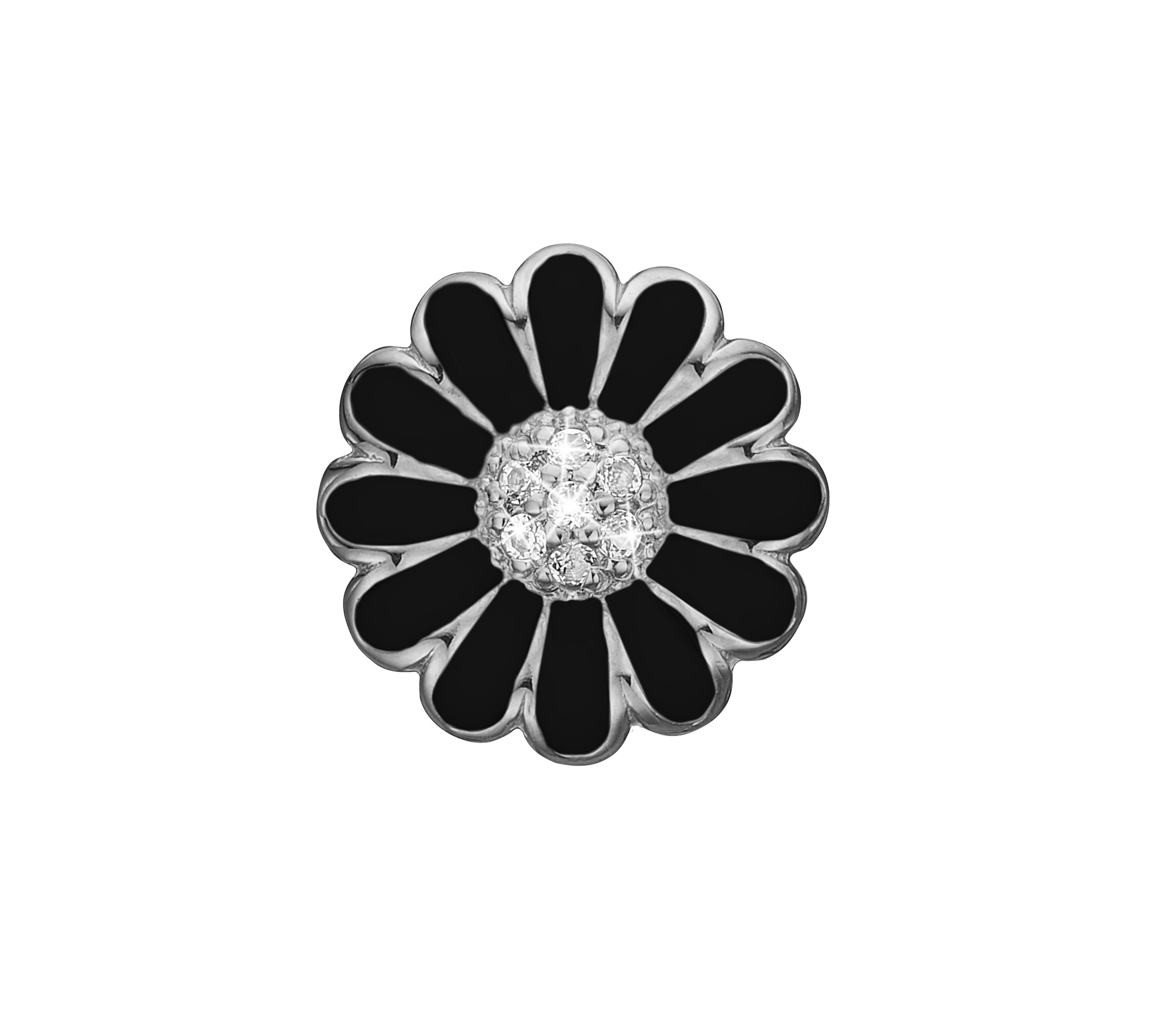 Image of   CHRISTINA Black topaz marguerite - 650-S38BLACK