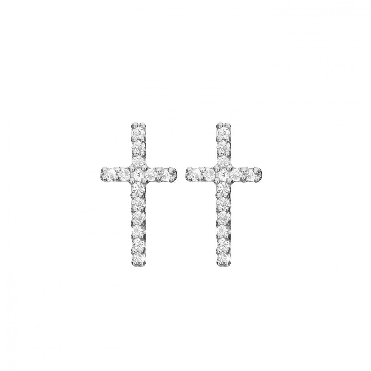 Image of   CHRISTINA Sparkling cross øretikker - 671-S35