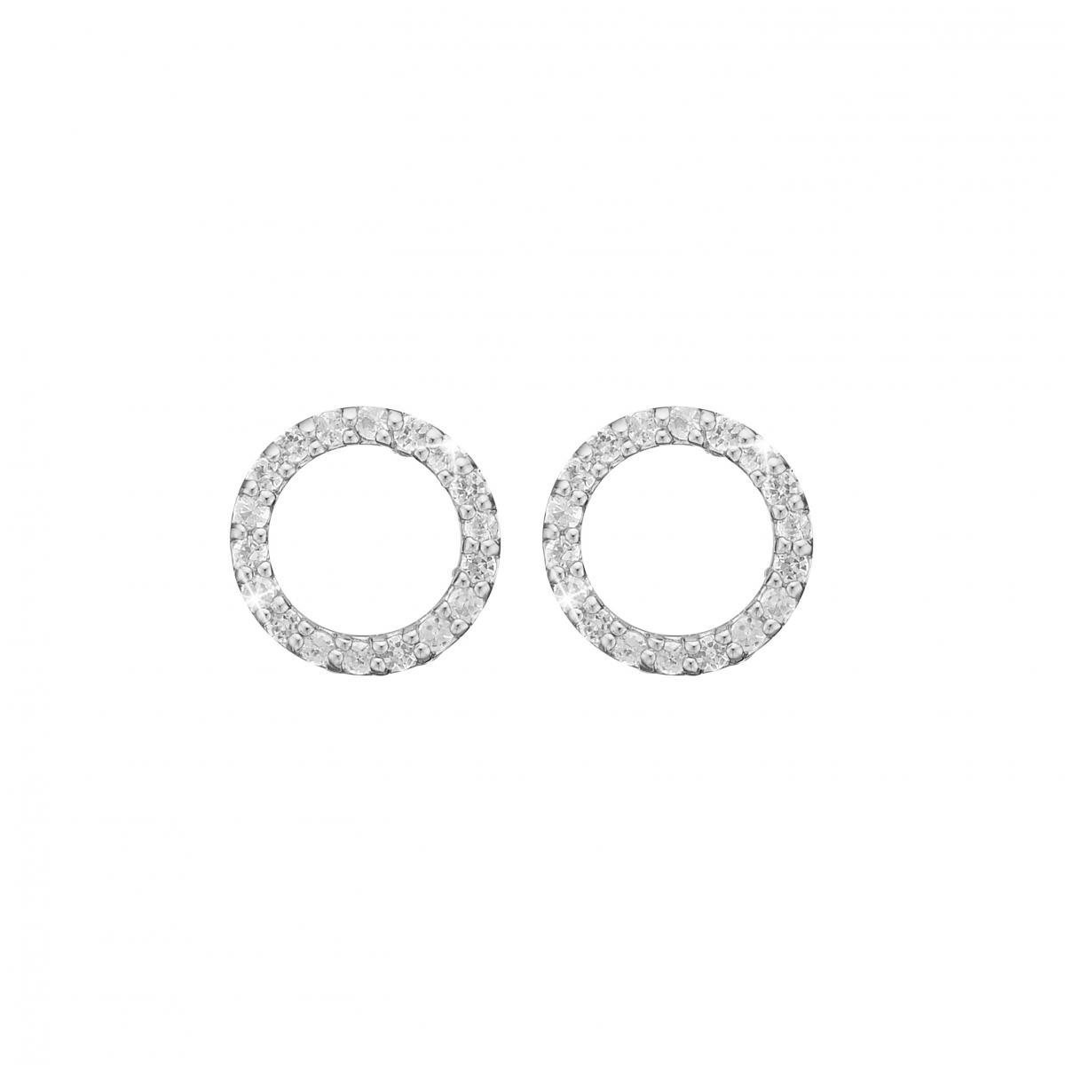 Image of   CHRISTINA Topaz circles ørestikker - 671-S36