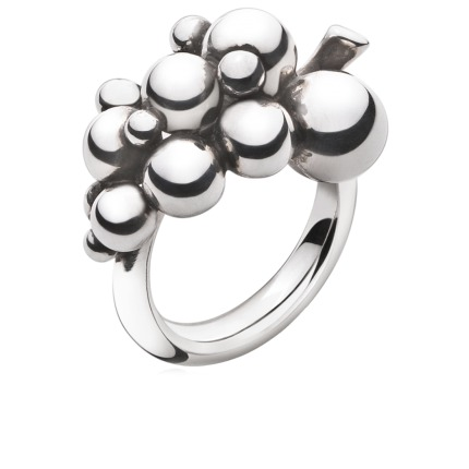 Image of   Georg Jensen MOONLIGHT GRAPES ring - 3558680 Størrelse 53