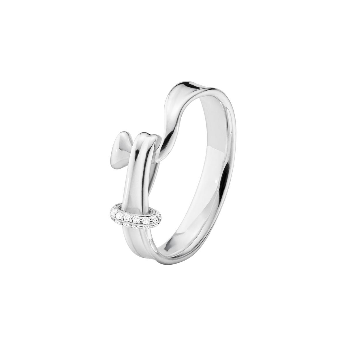 Georg Jensen TORUN ring - 3560680 sølv / 0,06 ct 49