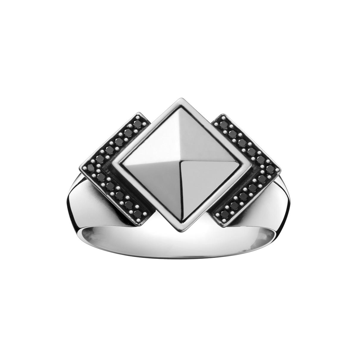Georg Jensen NOCTURNE Ring med sort diamant - 3559720 Størrelse 58