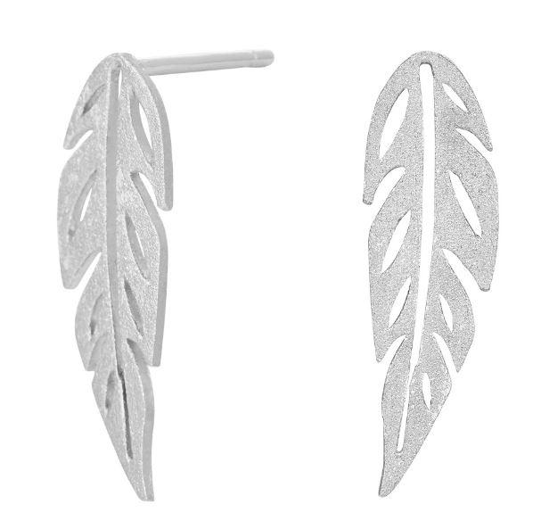 Rhodineret sølv øreringe GREEN 13mm