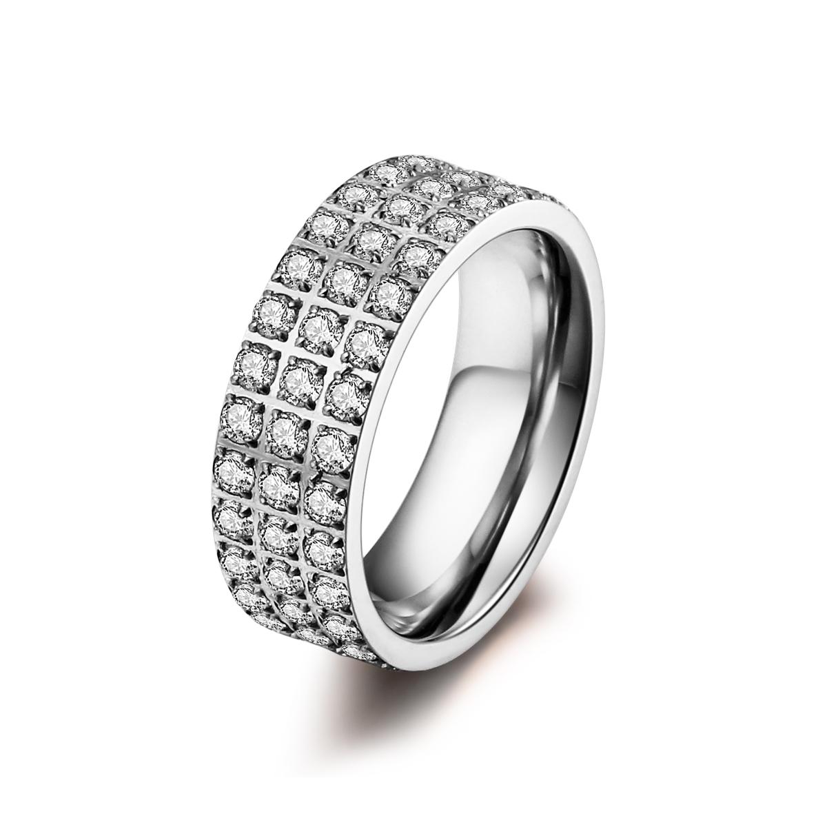 Stål ring med zirkonia - 1401133 størrelse 52 fra ice diamonds by kranz fra brodersen + kobborg