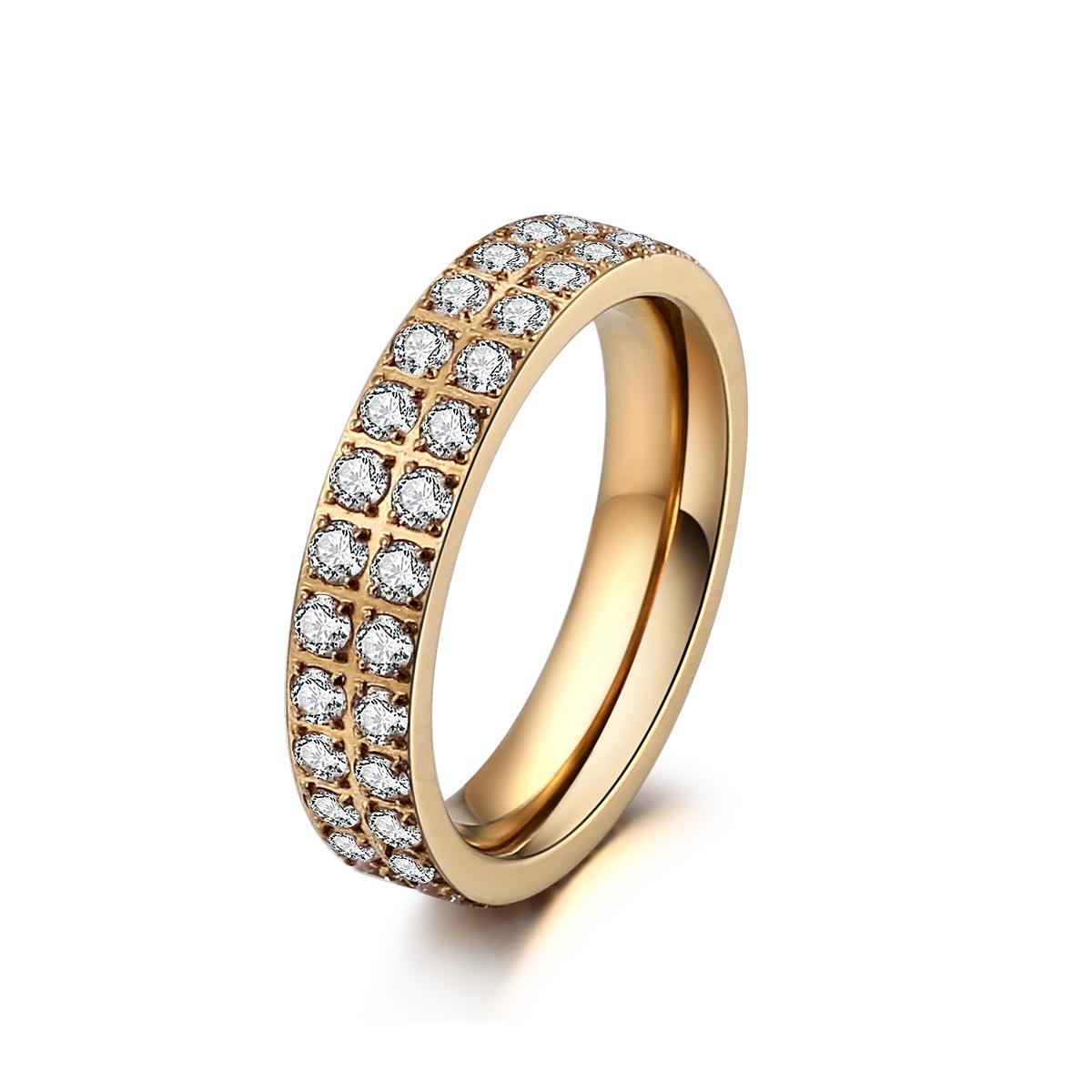 ice diamonds by kranz – Forgyldt stål ring med zirkonia - 1402123 størrelse 54 fra brodersen + kobborg