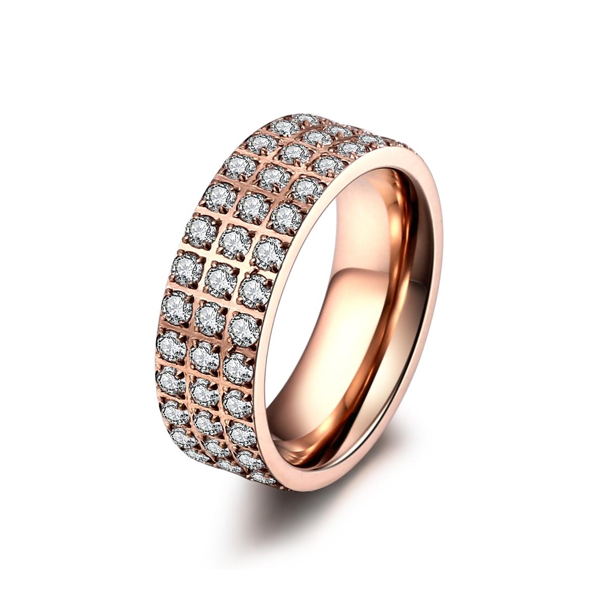 ice diamonds by kranz Rosaforgyldt stål ring med zirkonia - 1403133 størrelse 58 fra brodersen + kobborg