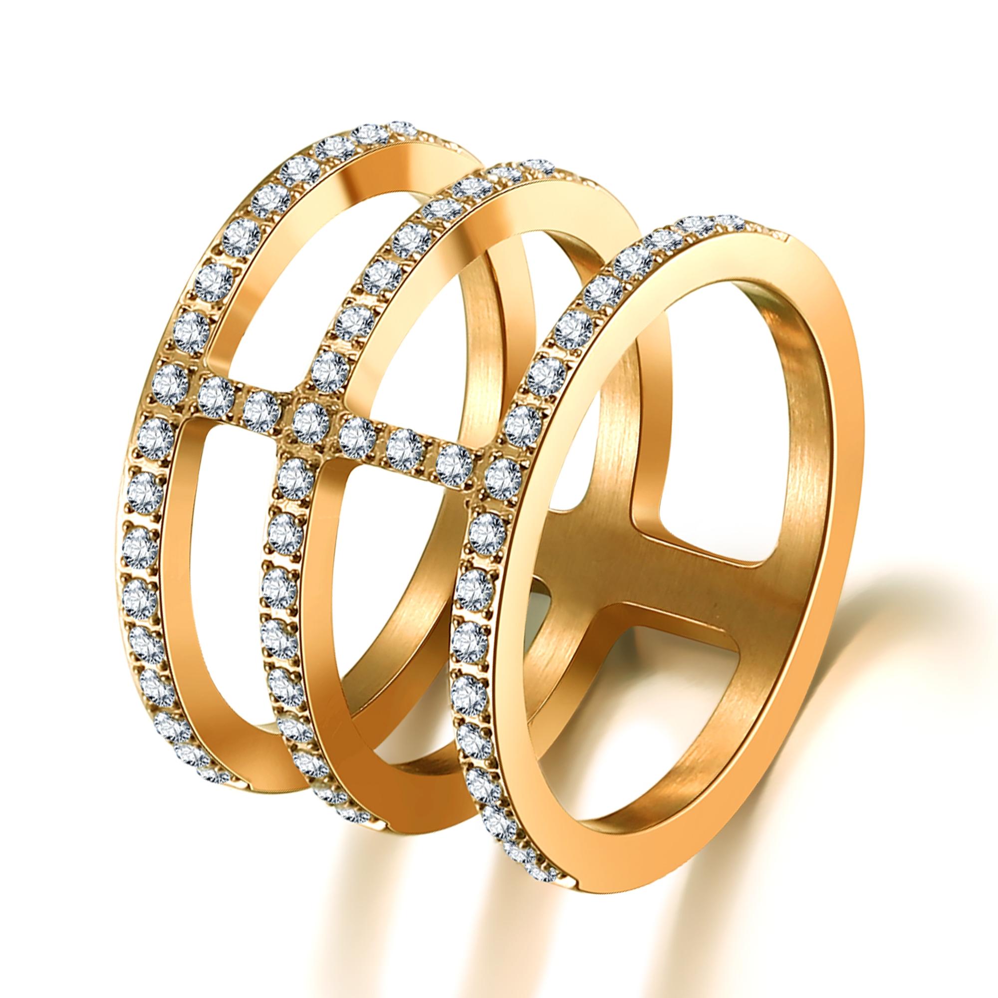 ice diamonds by kranz Forgyldt stål ring med zirkonia - 1602133 størrelse 54 fra brodersen + kobborg