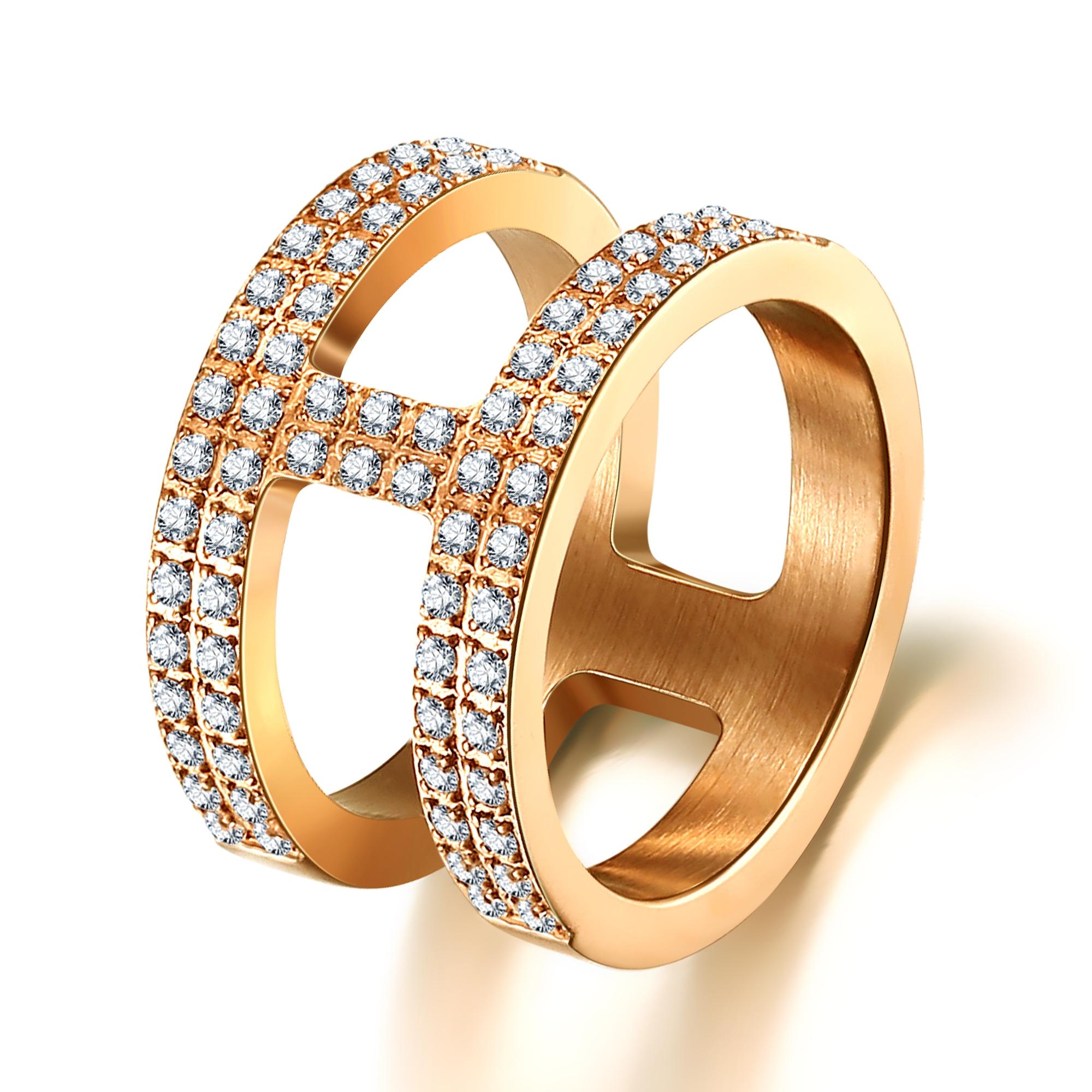 ice diamonds by kranz – Forgyldt stål ring med zirkonia - 1602223 størrelse 60 fra brodersen + kobborg