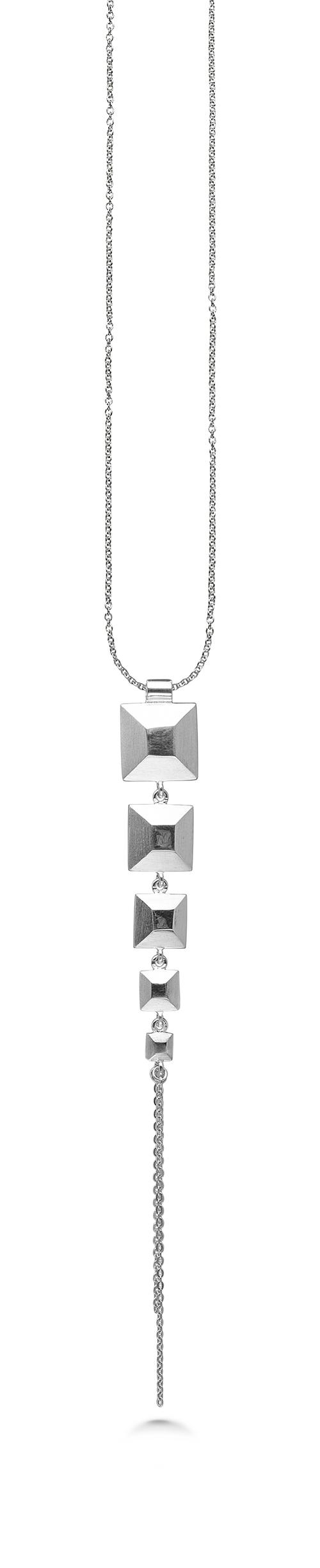 Billede af Kranz & Ziegler Sølv halssmykke squares - 4003791-45