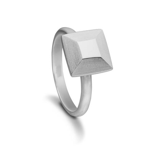 kranz & ziegler – Kranz & ziegler sølv ring square - 4005791 størrelse 58 på brodersen + kobborg