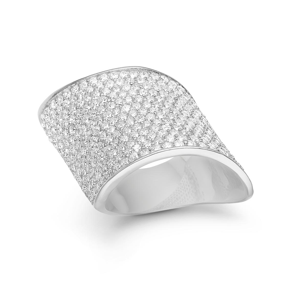 Image of   Kranz & Ziegler Rhodineret sølv ring wave - 6205202 Størrelse 52