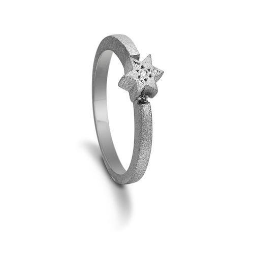 Image of   Kranz & Ziegler sort sølv ring - 6205866 Størrelse 58