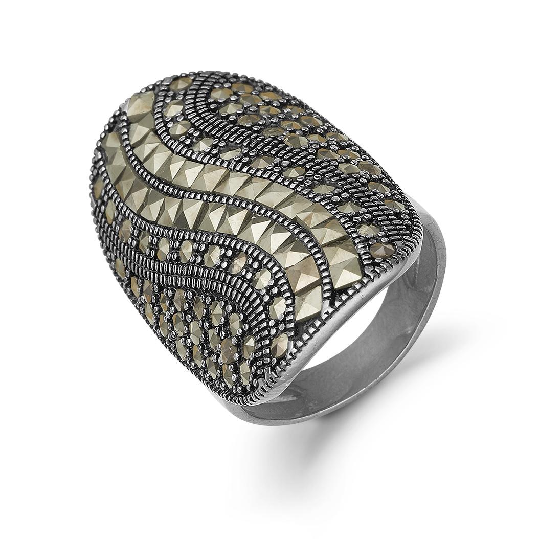 Image of   Kranz & Ziegler Sort sølv ring - 6405815 Størrelse 56