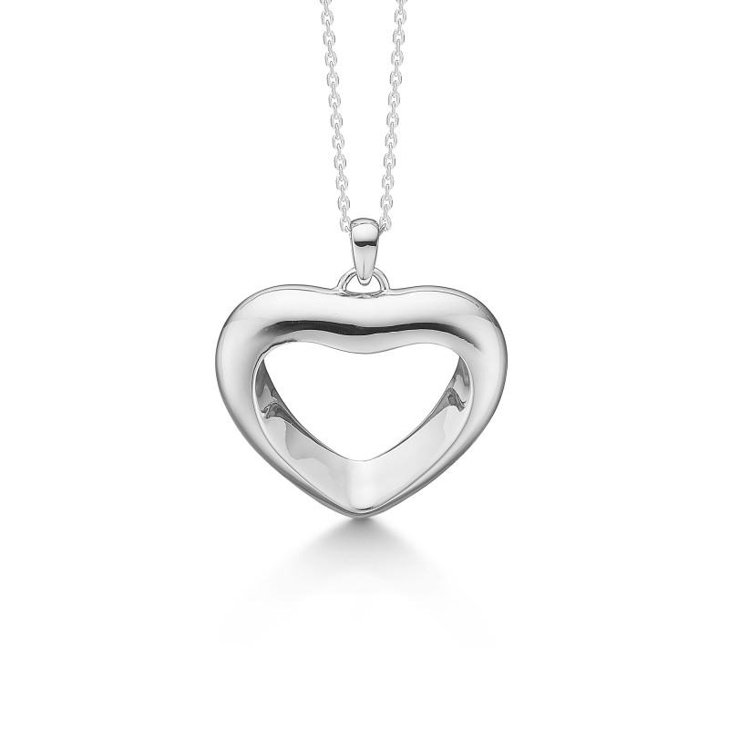 Billede af Sølv hjerte med kæde Affection - 2120017