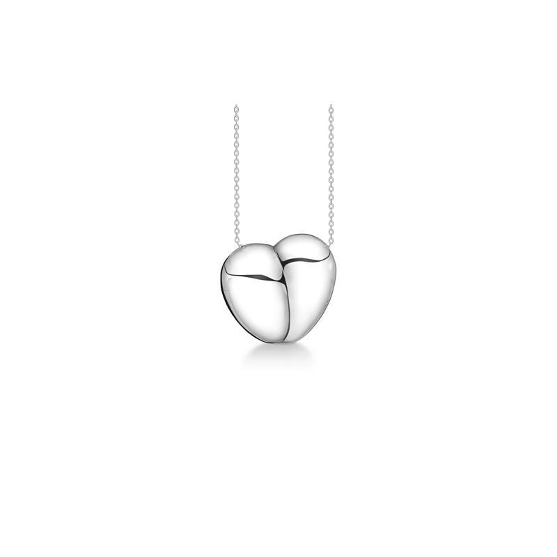 Billede af Sølv hjerte med kæde Pure - 2120064