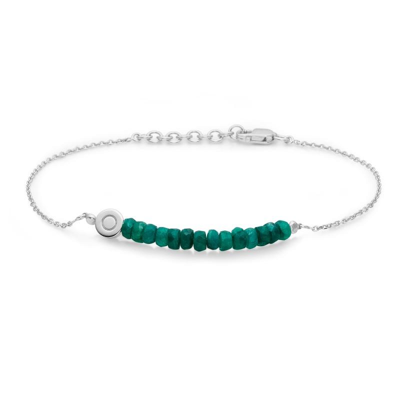 Billede af Sølv armbånd med smaragder - 2154013