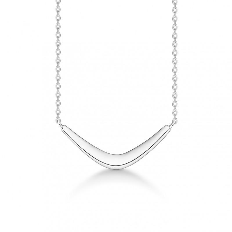 Sølv halssmykke boomerang - 3120107 fra mads ziegler fra brodersen + kobborg