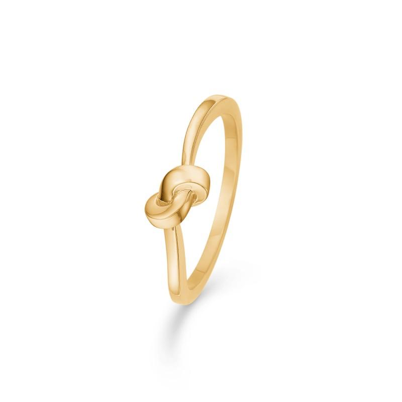 Image of   8 kt ring Knot - 3340110 Størrelse 56