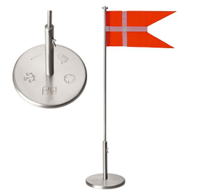 Image of Flagstang fortinnet massiv 30CM/dåb - 150-76023