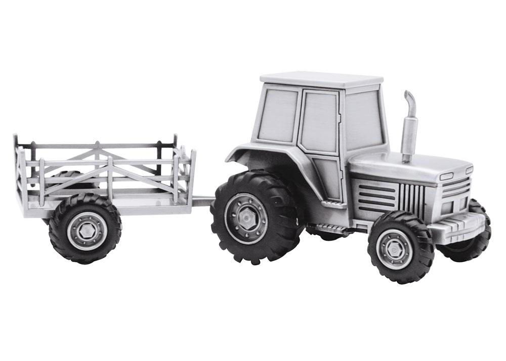 nordahl andersen – Fortinnet sparebøsse traktor med vogn - 152-76904 på brodersen + kobborg