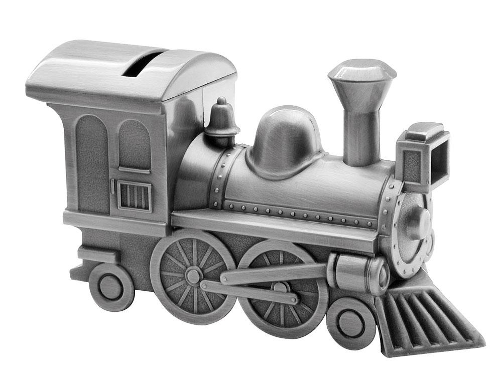 Billede af Fortinnet sparebøsse tog - 152-76971