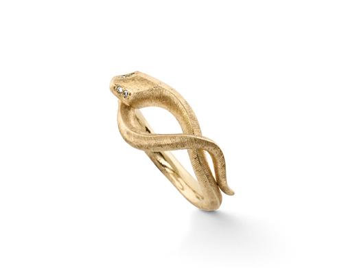 Ole Lynggaard Snake ring - A2672-401 Størrelse 50